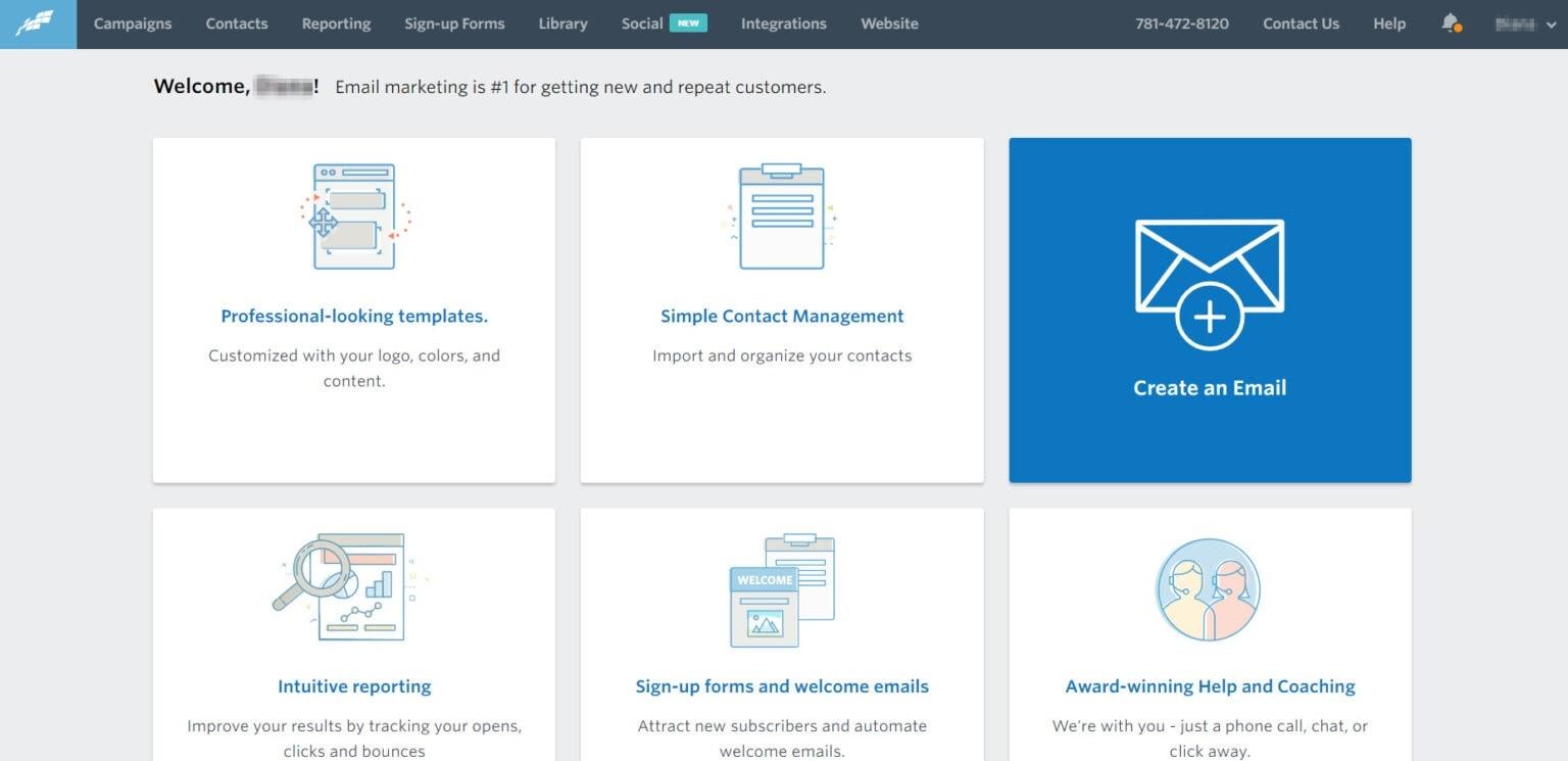Hình 6: Constant Contact tập trung chính vào ecommerce