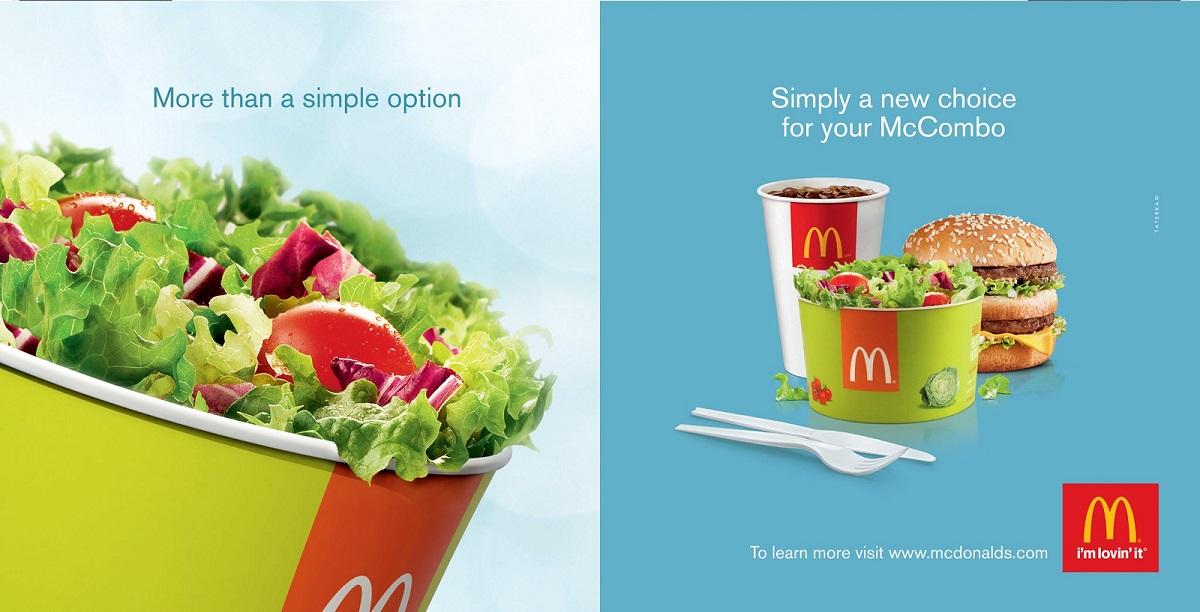 Hình 7: McDonald's thêm các thực phẩm healthy