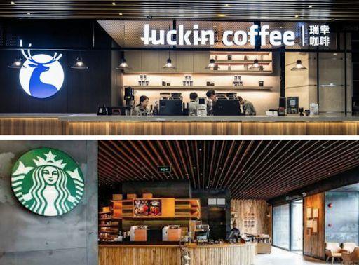 Starbucks và đối thủ tại thị trường Trung Quốc Luckin Coffee