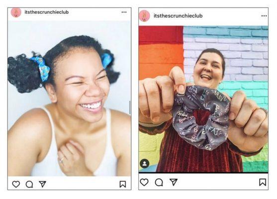 The Scrunchie Club nêu bật sản phẩm bằng cách chia sẻ UGC